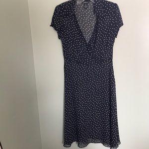 MSK black polka dotted dress